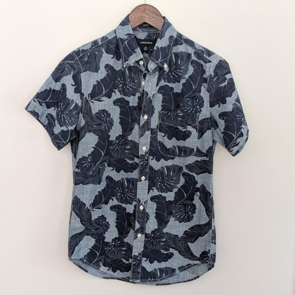 J.Crew Jeans Hawaiian Button Down NEW XS